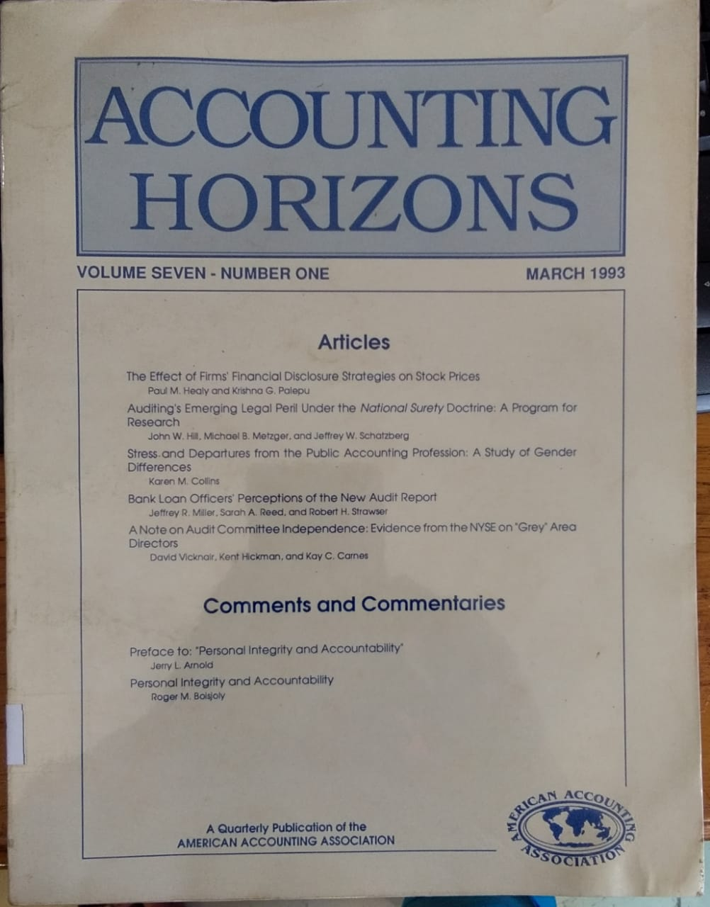 Accounting Horizons